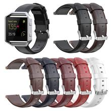 New 7 Colors Genuine Leather Watch Band For Fitbit Versa Wrist Strap For Fitbit Versa Lite Replacement Band For Fitbit Blaze genuine leather watch band for fitbit blaze replacement band meatal frame house wrsit band for fitbit blaze smart watch strap