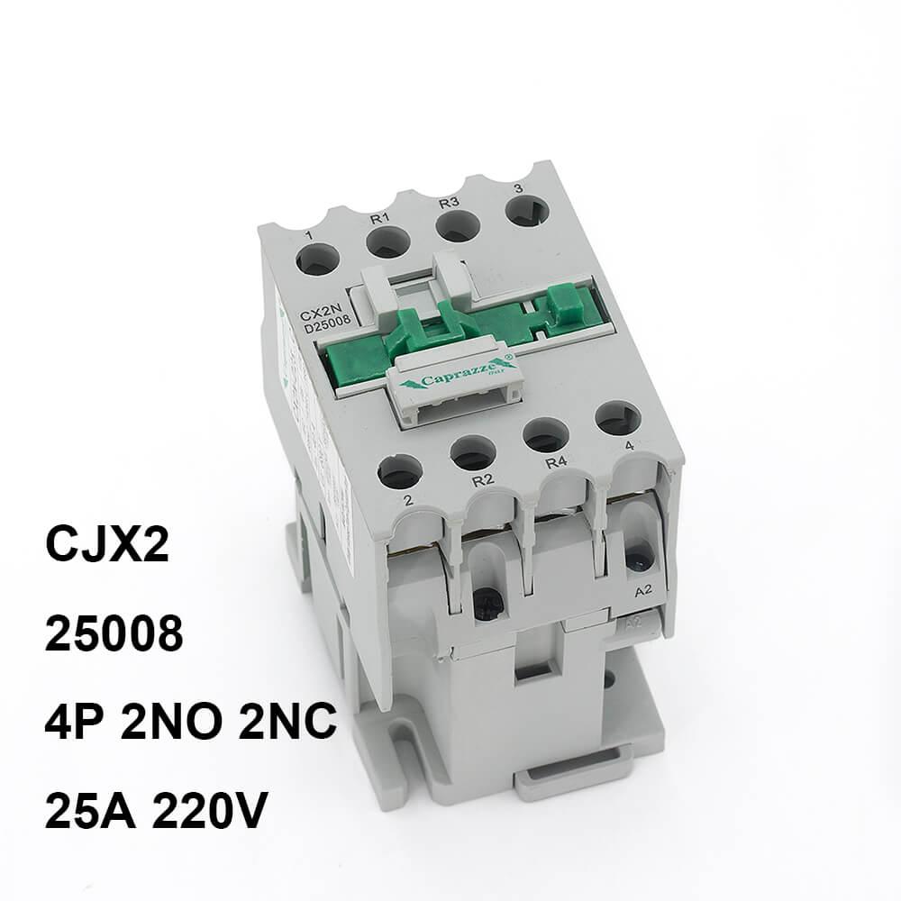 CJX2 tipo LC1 D25008 25A 220V 240V 4 polos 2NO 2NC AC Contactor, 220V 25004, 25008 TOCT1 2P 25A 220 V/230 V 50/60 HZ, carril Din hogar ac contactor Modular 2NO 2NC o 1NO 1NC