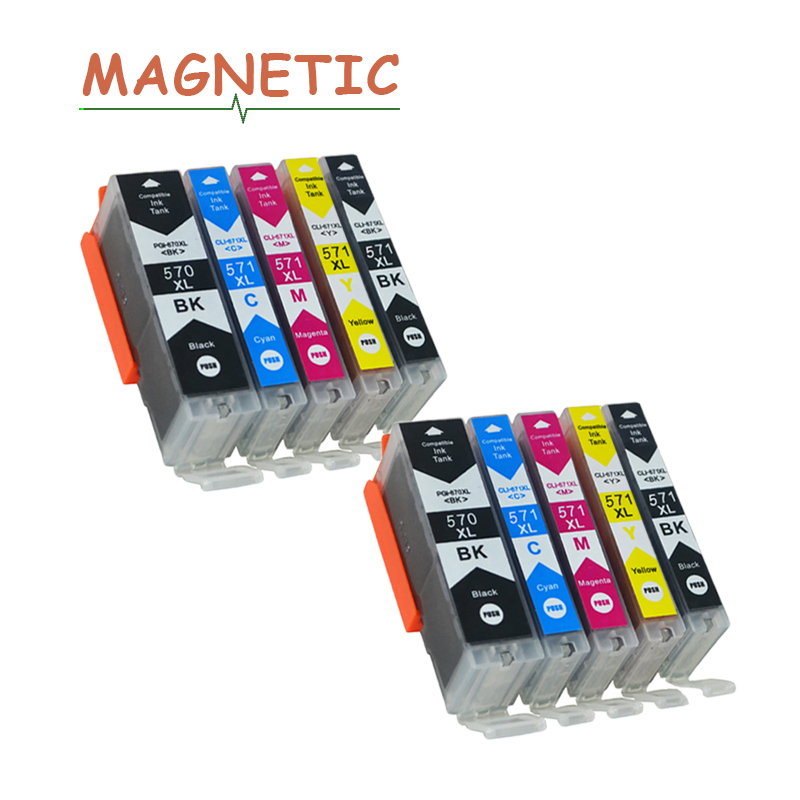 10x PGI570 Ink Cartridge PGI-570 For Canon PIXMA MG5750 MG5751 MG5752 MG5753 MG6850 MG6851 MG6852 <font><b>TS5050</b></font> TS5051 printer pgi 570 image