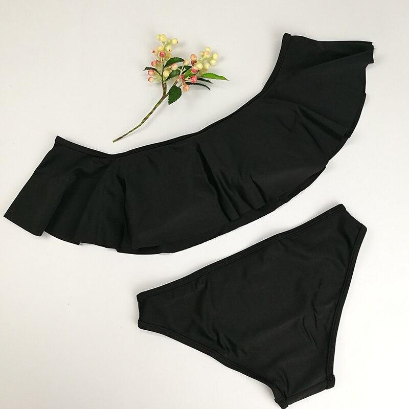 2018 Bikini sexy Beach swimsuit push up Wavy lace Swimwear off shoulder style womens biquini suit set new swiming suits