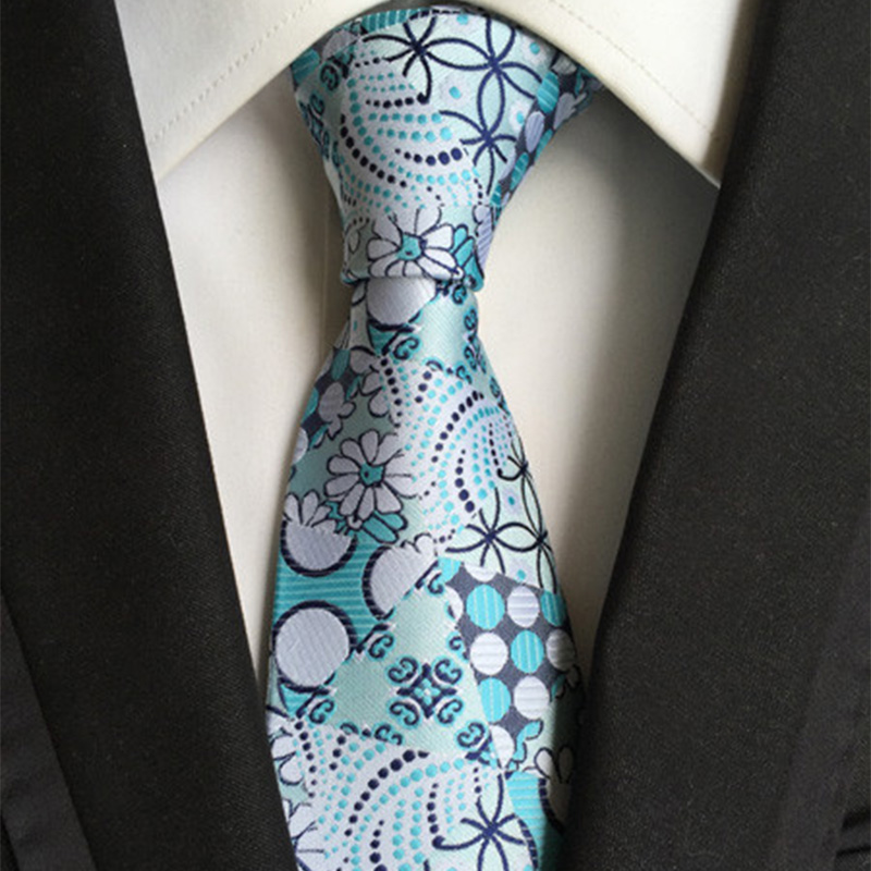Mantieqingway Paisley 8cm Wide Bright Color Neckties for Men Polyester Wedding Business Causal Party Male Gravatas Wholesale Tie