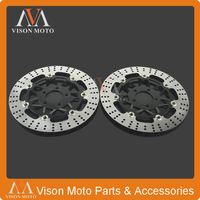 2PCS Front Floating Brake Disc Rotor For KAWASAKI ZZR600 ZZR 600 90 91 92 93 04