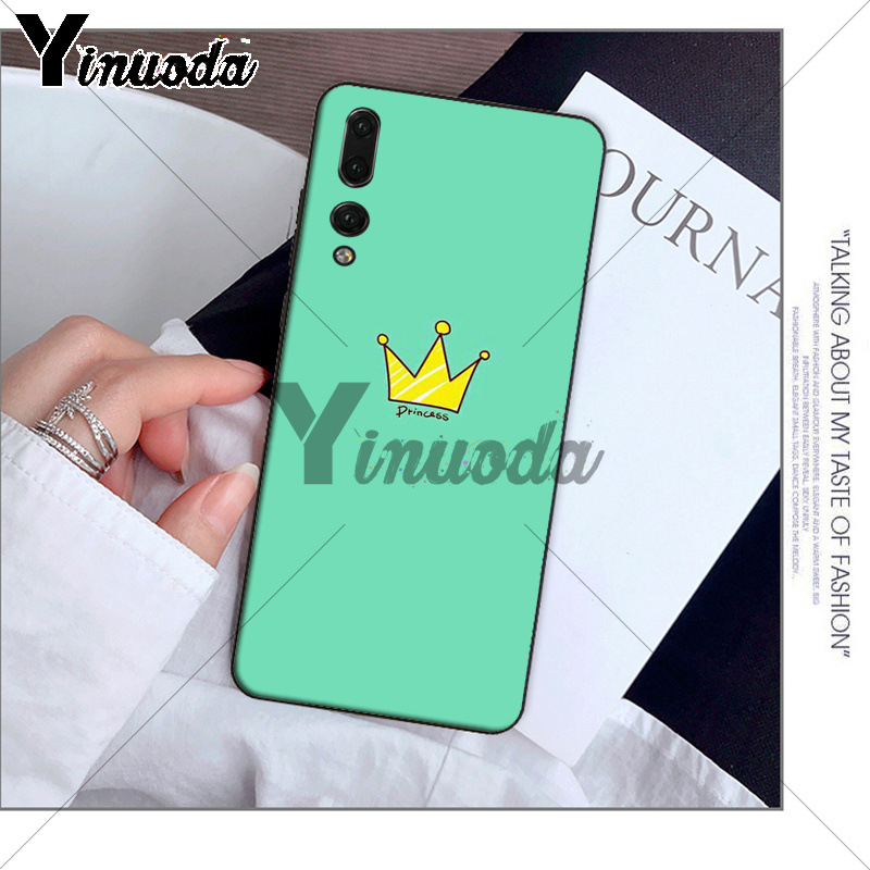 Yinuoda Cartoon Crown King and Queen Phone Case for Huawei P10 plus 20 pro P20 lite mate9 10 lite honor 10 view10 Shell