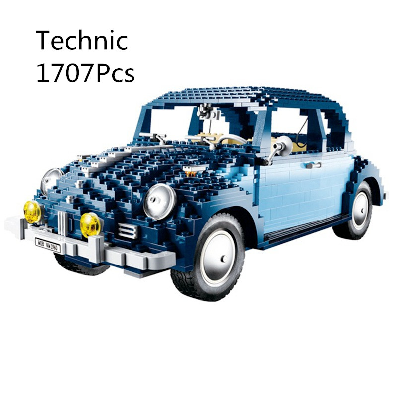 CX 21014 1707Pcs Model building kits Compatible with Lego 10187 With Legoing Volkswagen Beetle Brick figure toy for children 1707pcs new lepin 21014 classic beetle model car building kits blocks bricks for children christmas gifts legoinglys 10187