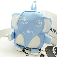 LJT New Cartoon Cute PU Shoulder Bag Personality Elephant Modeling Backpack Men And Women Casual School