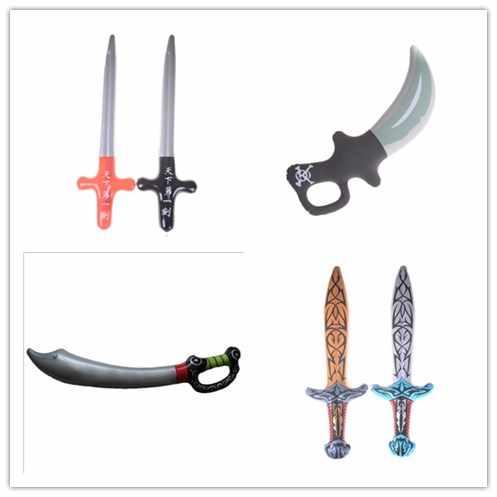 4 stil açık eğlenceli oyun şişme korsan oyuncak kılıç sahne sahne şişirilmiş çocuk Cosplay sıcak oyuncaklar doğum günü partisi iyilik