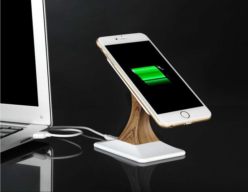 New Portable 360 Rotating Magnetic Stand Holder Qi Wireless Charger for Galaxy S6/S6 Edge/Nexus 5/G3/G2/Lumia 928/920/HTC