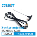 2 Unids/lote CDSENET TX433-XP-200 SMA-J Alta Ganancia $ number dbi Antena de Radio Original 433 MHz rf Antenas para Comunicaciones