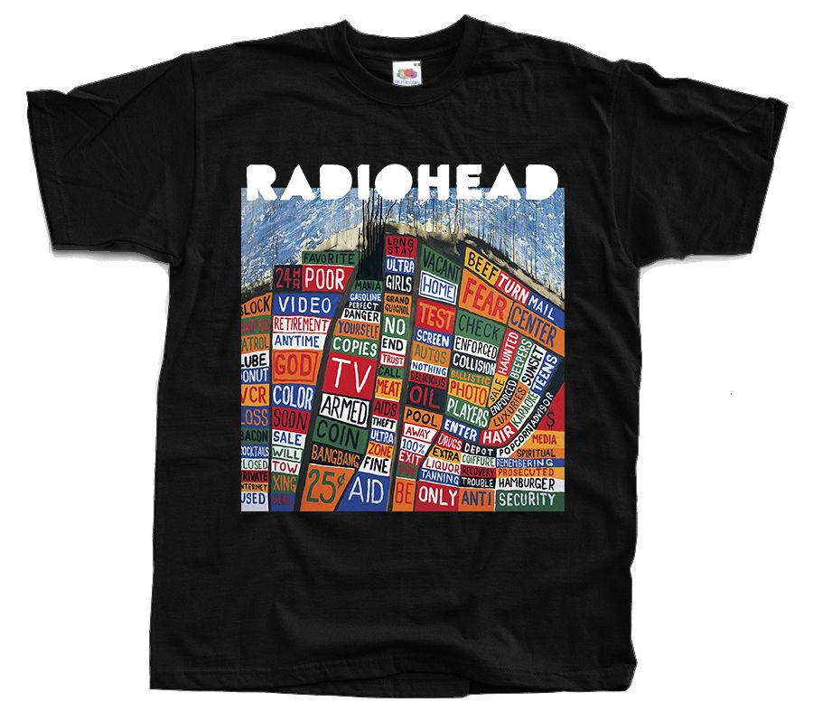 Design Own T ShirtCrew Neck Radiohead Hail To The Thief T-Shirt Black Graphite Navym Khaki Sizes S To 3XL Short Design T Shirts