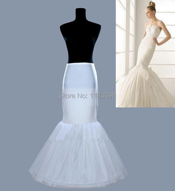 Hot venta Mermaid Petticoat / deslizamiento 1 aro de hueso elástico crinolina trompeta Hot accesorios venta de boda