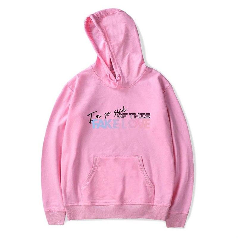 BTS Fake Love Sweatshirt Hoodies Kpop New Album Men Women Womens Hoodies Winter Autumn Coat Sweatshirts