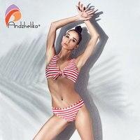 Andzhelika Bikinis Women Swimwear 2018 Summer Sexy Striped Brazillian Bikini Set Beach Low Waist Bathing Suit