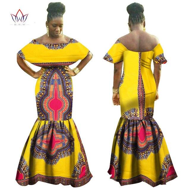 a5a988e60604 Summer Women Dresses Africa Print Cotton Sleeveless Maxi Dresses Mermaid  Dress Women Dashiki African Clothes BRW
