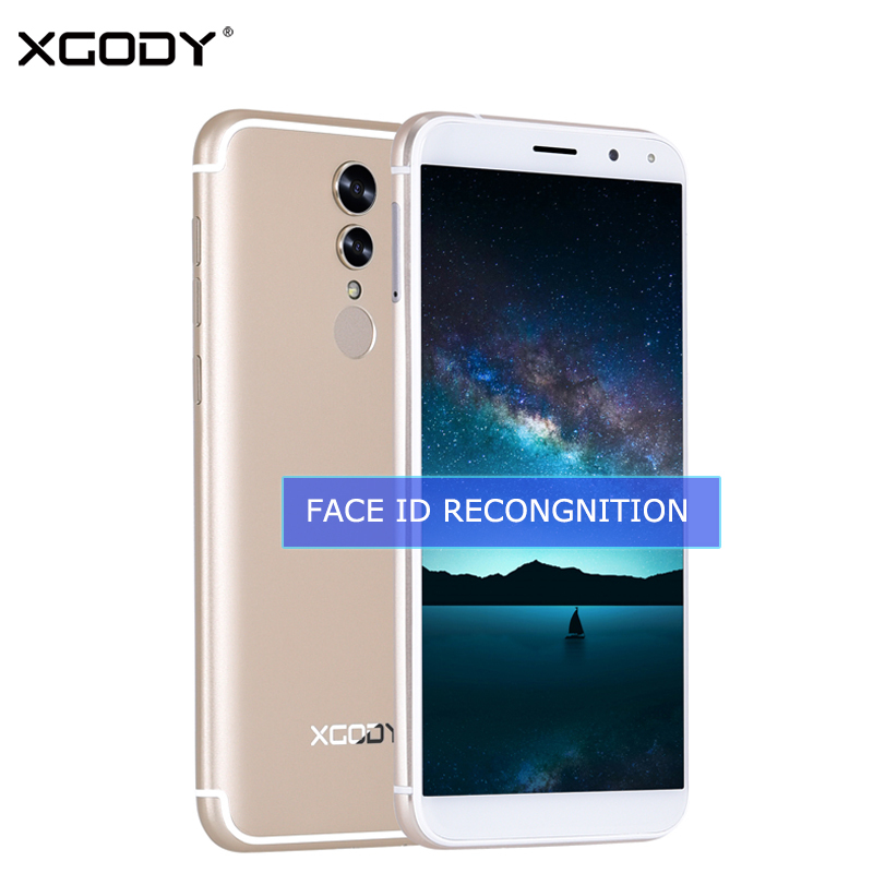 """XGODY S12 Face ID Smartphone Android 7.0 4G LTE 5.72"""" 18:9 Display Fingerprint Quad Core 1GB+16GB 13.0MP Mobile Phone Cellphone"""