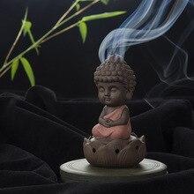 Creative Zen Kegel Spule Weihrauch Brenner Halter Lotus Platte Wohnkultur wohnzimmer Ofen Dekoration Ornament Tathagata Buddha
