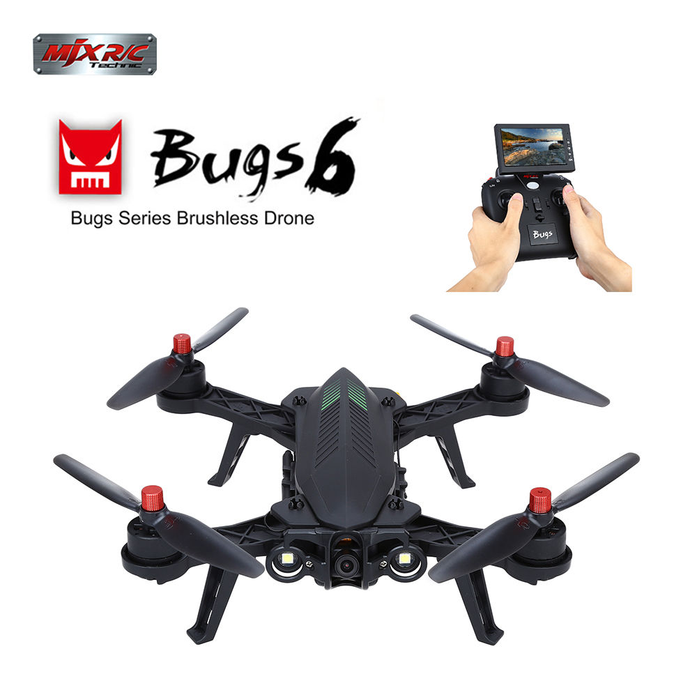 MJX B6 Bugs 6 RC Drone Camera Gyro Real Time Quadcopter 2.4Ghz 6Axis RTF+Monitor RC Airplane Fly Hobby Kit Free Shipping беговел rt hobby bike fly b черная оса kiwi black