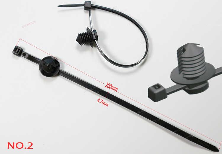 51fbc1b9774c ... 20 Pcs Nylon Black Car Auto Cable Strap Push Mount Wire Tie Retainer  Clip Clamp cable