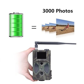 HuntingTrail Camera Cellular Mobile 2G MMS SMTP Photo Trap Night Vision Wireless Wildlife Surveillance Tracking HC300M 5
