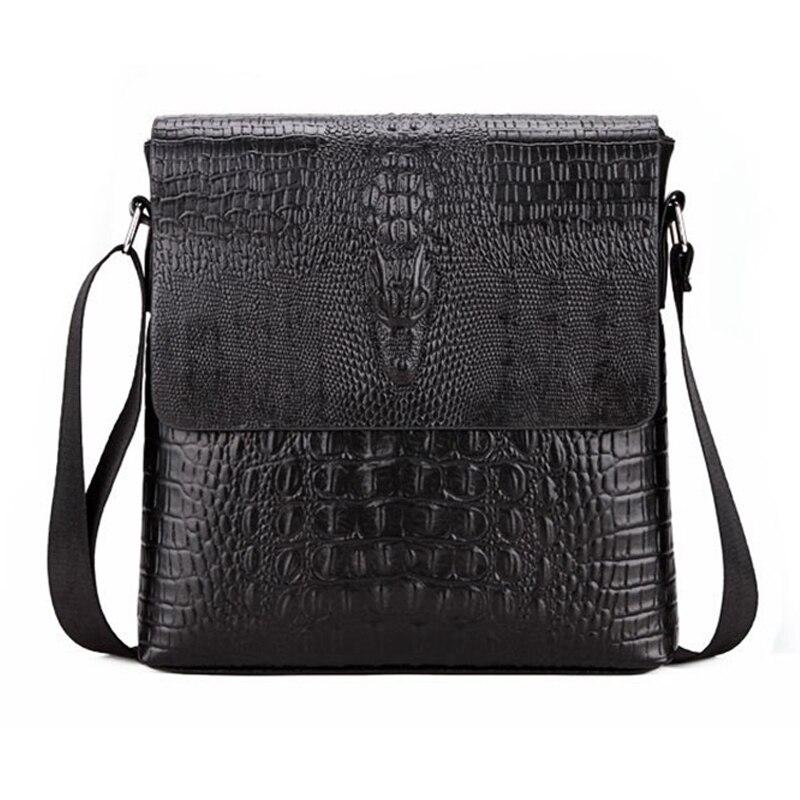 2018 Neue Hotsale Mode Männer Alligator Muster Klappe Schulter Taschen Für Männer Messenger Tasche Business Crossbody-tasche Bolsa