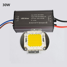 High quality 10W 20W 30W 50W 100W COB Chip High Power for LED Flood Light Floodlight + LED Driver Waterproof IP65 Free Shipping