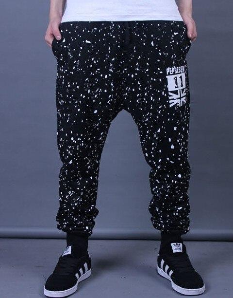 Мужчины бегунов брюки висит мужской лоскутное гарем брюки мужские бегунов камуфляж брюки М-XXXL