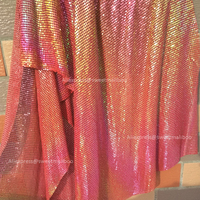 1pc 45 150cm Cheap Red Iridescent Metal Mesh Fabric Metallic Sequin Fabrics For Home Decoration Curtains