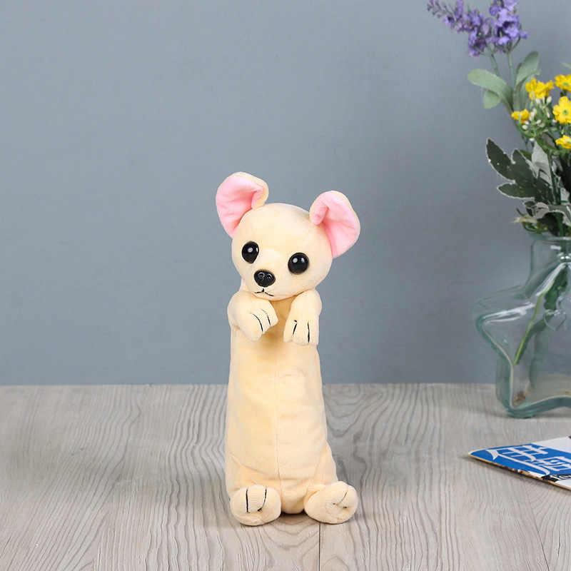 Lucu Siswa Tas Kawaii Anak-anak Mewah Pulpen Tas Kotak Kartun Hewan Anjing Stationery Tas untuk Anak Perempuan Anak Laki-laki