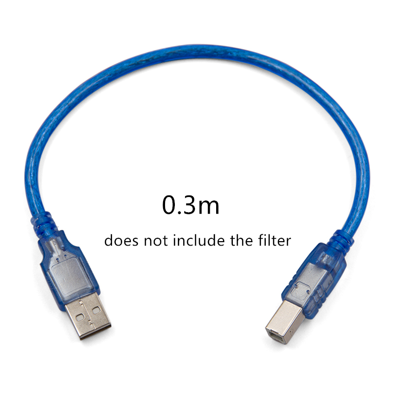 Pro USB 3.0 Printer Cable Type-A Male To Type-B Male 90 Degree Scanner Data Cord