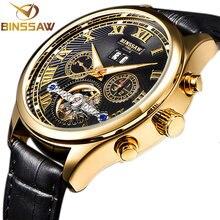 BINSSAW/2017 Watches Men Luxury Top Brand tourbillon Mechanical Watch Fashion business sport casual Wristwatch relogio masculino