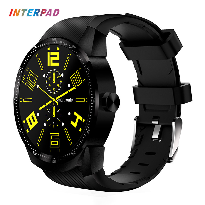2017 Interpad 3G Smartwatch Android OS MTK6572A 4GB ROM Phone Smart Clock Bluetooth GPS Smart Watch For iOS Apple iPhone Phone luxury v360 smart watch update dm360 mtk2502a bluetooth smartwatch support dutch hebrew for apple iphone huawei android phone