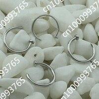 18 г / 20 г / 22 г Harris сталь марки 316L никель кольца в нос я обруч 5 размер тела percing ювелирных изделий