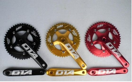 NEW 7075 48T single speed fixed gear fixie bike crankset cycling Road track bicycle crank set chain wheel road bicycle crankset 7 8 9speed folding bike crank chain wheel 34t 50t cnc aluminum alloy gear tooth disc with bottom bracket