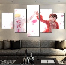 Luffy x Naruto 5 Piece Canvas Wall Art
