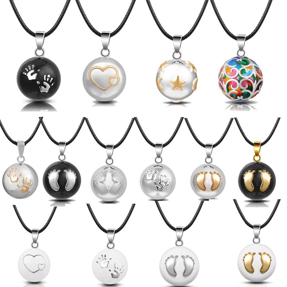Eudora Harmony Ball Pendant Necklace Pregnancy Chime Ball Mexcian Bola Ball Pendants For Women Fine Jewelry