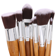 Professional !10 pcs Soft Synthetic Hair Make Up Tools Kit Cosmetic Beauty Makeup Foundation Brush Beige Sets 30