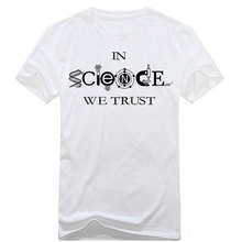 Fashion In Science We Trust Logo Men'S Cotton T-Shirts