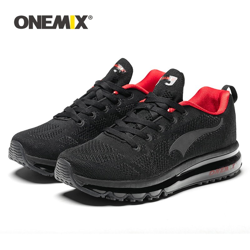 ONEMIX 2019 Men Running Shoes Sport Tennis Shoes Fashion Breathable Air Cushion Athletic Trainers Trail Sneakers Free Shipping