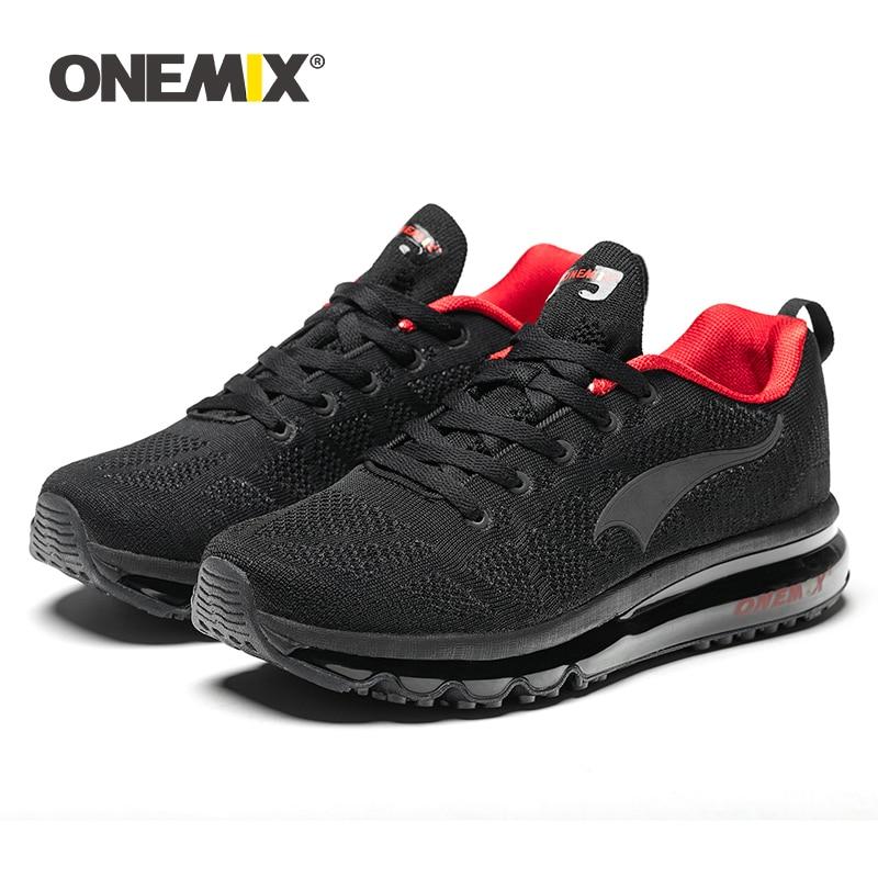 ONEMIX 2019 hommes chaussures de course Sport Tennis chaussures mode respirant coussin d'air athlétique formateurs Trail Sneakers livraison gratuite