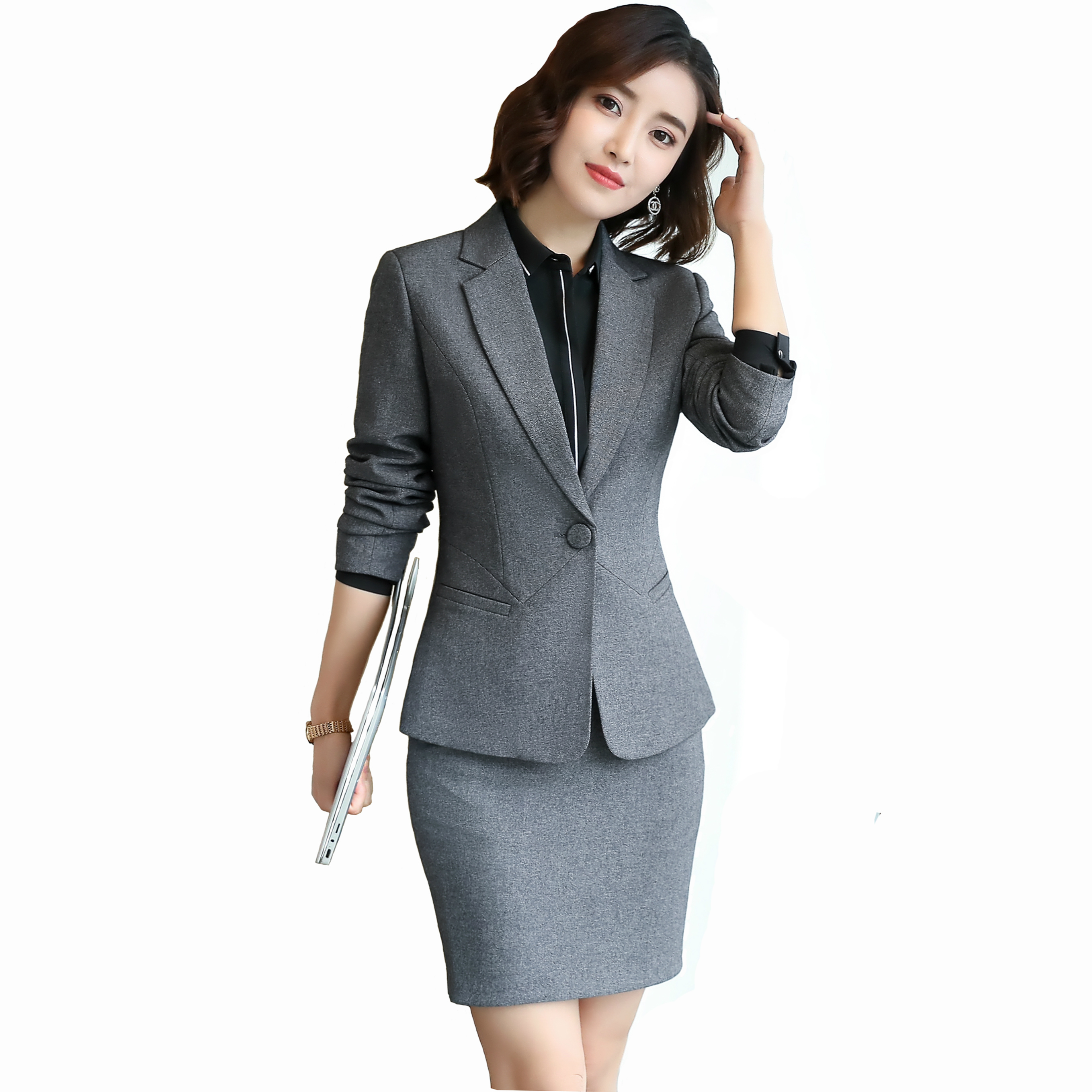 Women Spring Autumn Skirt Suit Formal Wear Blazer Office Lady Business Wear Casual Work Overalls Suits Female formal wear