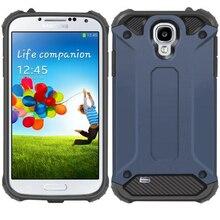 Için Samsung Galaxy S4 Kılıf Moda Lüks Zırh Hibrid Darbeye Kauçuk iç Sert Kapak Samsung kılıfı Galaxy S4 i9500 i337