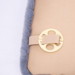 Image 5 - KAWOSEN Universal Faux Rabbit Fur Seat Cover,Cute Car Interior Accessorie Car Cushion Styling,Plush Black Car Seat Covers FFFC03