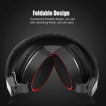 Wysokiej jakości pałąk składane słuchawki stereo Hi Fi słuchawki na PC MP3/4 telefon komórkowy zestaw słuchawkowy dla aktywnych z kontrola kabel do mikrofonu