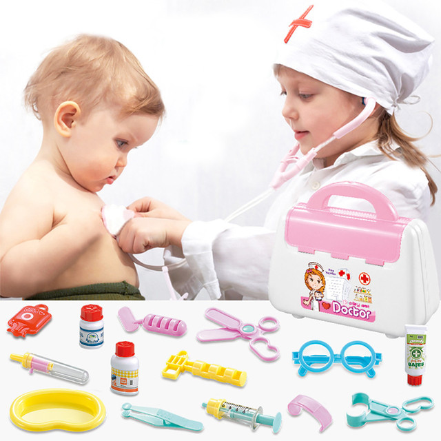 Doctor Pretend Play Medical Set Case Doctor Kit Tools Accessories Educational Role Play Toy Gift For Kid Dr Pretend Toys T6#