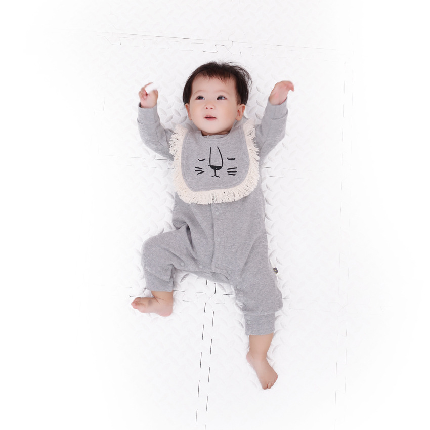 2018 autumn long climb clothes cotton baby clothes 0-3 old Europe Romper Jumpsuit common neutral baby 2018 autumn