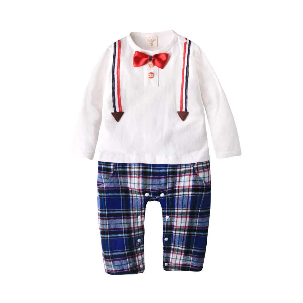 Fashion Baby rompers long sleeve cotton baby infant cartoon bow tie newborn baby clothes romper baby costume clothing sets bebe newborn baby rompers baby clothing 100% cotton infant jumpsuit ropa bebe long sleeve girl boys rompers costumes baby romper