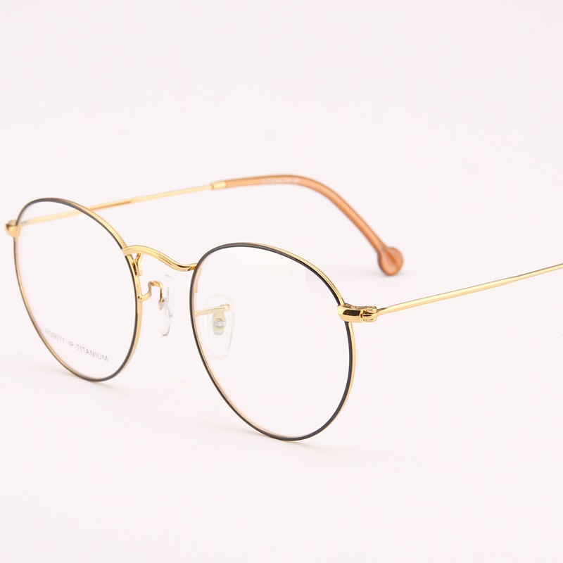 997cc7422e3c width 135 retro women Pure titanium glasses frames ultra light fashion  brand myopia prescription glass male round female eyewear-in Eyewear Frames  from ...