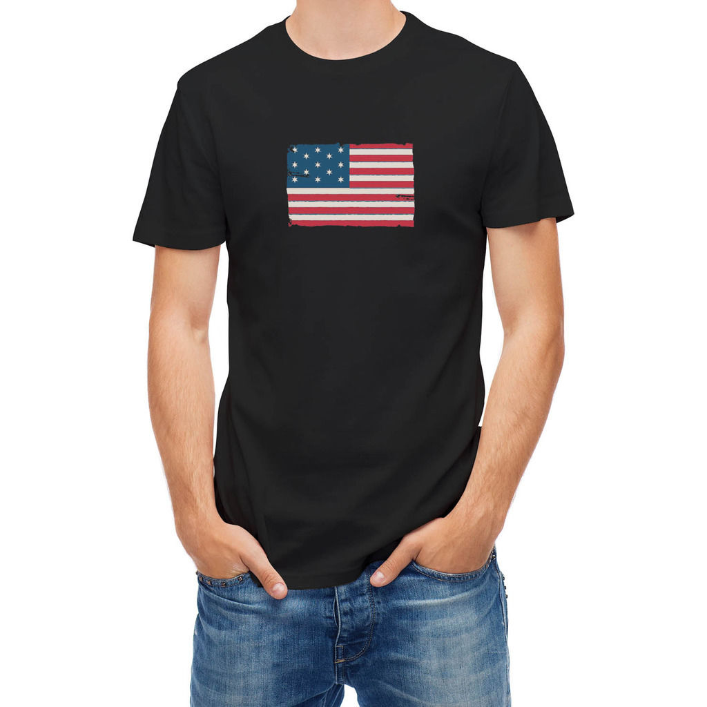 Design your own t shirt made in usa - Free Shipping 2017 Men S Popular Vintage Usa Flag 25502 3d Print Men S 100 Cotton Short