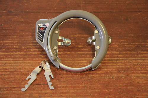 Vintage Bike Bicycle Lock Pad Lock Circular Lock Wheel Lock Set