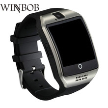 WINBOB Bluetooth S1 Smart Watch Relogio Android Call Smartwatch Telefon SIM TF Camera untuk IOS iPhone Samsung HUAWEI VS A1 Q18