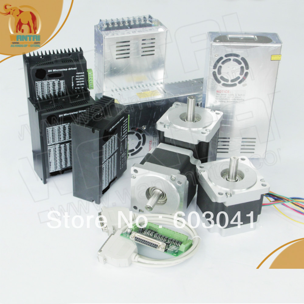 USA Ship & Free to USA, CA,EU Nema 34 Wantai Stepper Motor 1090oz-in,5.6A DQ860MA 3 Axis  CNC Mill Cut Laser, 3D Printer  цена и фото